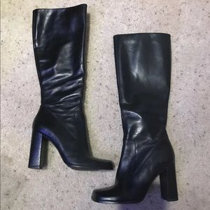 Shoes - Heeled real leather boots